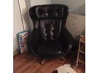 Danish Swivel Chair Retro