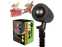 Santa & Sleigh Animated Projector New