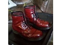 Dr Martin boot's, size 10 , Cherry Red , 8 hole