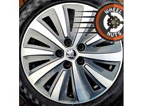 """17"""" Genuine Skoda Superb alloys excel cond excel tyres."""