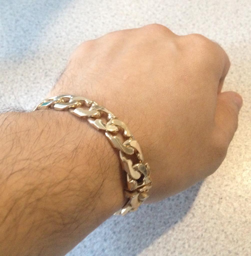 "9ct Gold Curb Bracelet, 37g, 7.5"""