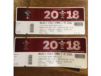 Wales v Italy 6 nations tickets