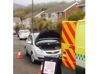 24 hour emergency wrong fuel drain service . Petrol in your diesel in Cardiff Newport Swansea