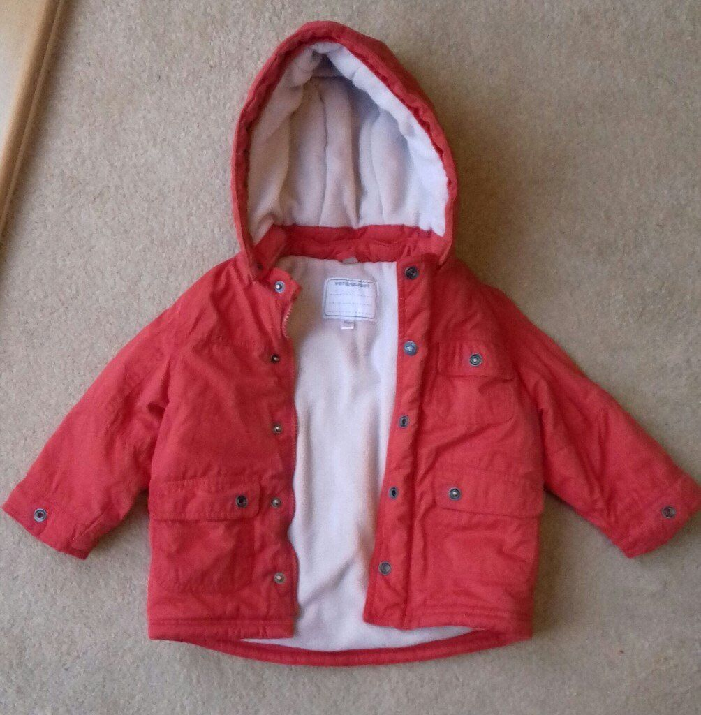 Winter Red Coat age 1-2 . Great condition
