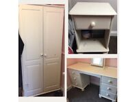 Wardrobe dressing table and bedside draw ready for upcycle project