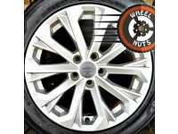 """17"""" Genuine Audi A4 alloys Renault Trafic perf cond excel tyres."""