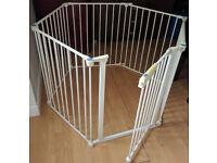 Hexagonal Playpen with gate PLUS THREE stair gates