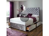 Divan bed sets with luxury mattress and free delivery
