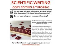 Scientific writing, copy editing & tutoring