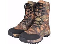 Jack Pyke Tundra Boot English Oak Pattern Fishing Hunting Airsoft Thermo Waterproof Breathable