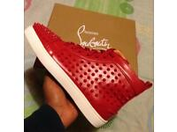 Men's Christian Louboutins studded Sneakers leather