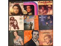 9 x vintage vinyl records of mixed artists and genres