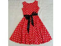 NEW Red Polka Dot Cotton Dress