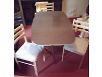 LOVELY SPACE SAVER FOLDING TABLE & X 3 BRAND NEW CHAIRS - £65 ONO