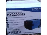 Used but as new condition Hyundai 3200Sei Inverter generator for sale only 29 running hours