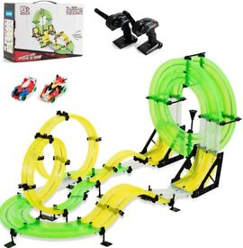 Car Race Track, 860cm Double Rail Hand Rolling Slot Cars Playset TY578567