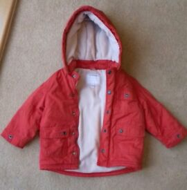 1-2 year old unisex red coat. Lovely condition, very warm