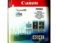 Canon PIXMA Printer Ink ChromaLife 100 Multipack 3 Colour PG-40 + CL-41