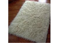Flokati shaggy sheeps wool rug