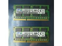 16GB Samsung Ram Laptop Memory (2 X 8GB) DDR3 1600MHz PC3L-12800S 204pin Laptop Memory RAM 1418