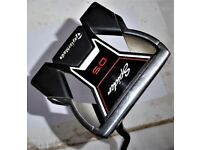 OUTSTANDIG TAYLORMADE OS SPIDER PUTTER WITH MID SLIM 2 SUPER STROKE GRIP & HEAD COVER.
