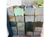 Ex RAF warehouse stackable shelving fab industrial look &12 each