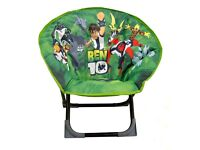 Kids Ben 10 folding chair - great for TV, Xbox/ Playstation etc or camping