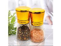 Premium Salt & Pepper Grinder Mills for Kitchen or Dining Table