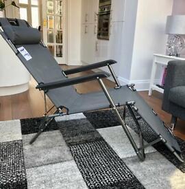 2 in 1 folding reclining chair/sun lounger.