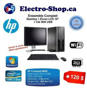 Ensemble complet Desktop HP Compaq 8000 Intel Core 2 Duo