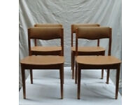 4 Light Tan (Ercol style) dining chairs