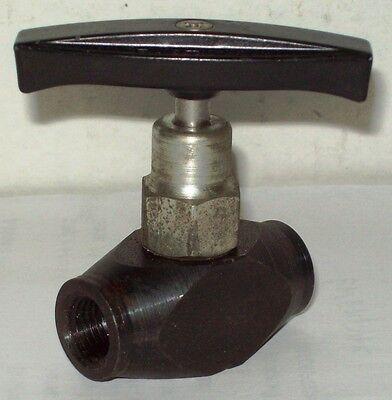 Imperial Eastman/parker 5000 Psi 1/4 High Pressure Inline Steel Valve 702-cs