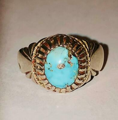Vintage Larimar Ring 925 8.5 Warlock Estate Protection From Evil Strength Health - $41.64