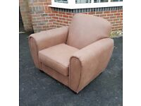 faux leather armchair v good condition