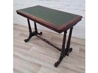 Victorian Leather Bound Desk (DELIVERY AVAILABLE FOR THIS ITEM OF FURNITURE)