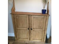 Large Antique Solid Oak Cupboard/Sideboard.
