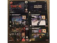 Nintendo 64 games mint condition boxed with manuals