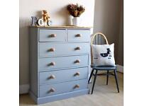 Lovely Shabby Chic Painted Large Chest of Drawers
