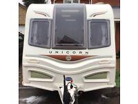 Bailey Unicorn Cadiz 4 berth fixed single beds TOURING CARAVAN