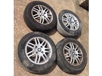 14 inch alloy wheels 4x peugeot 206 and fits 4 stud peugeot van also 1 week old tyres