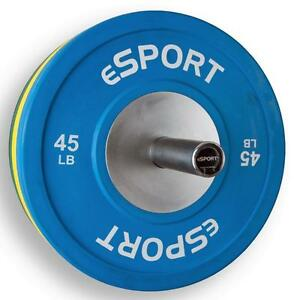 eSPORT COLOR LB TRAINING BUMPER PLATES 45lb Pair