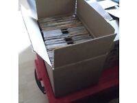 BOX OF 45 RPM 7 INCH SINGLES. VARIOUS ARTISTS AND GENRES. WILL SELL INDIVIDUALLY
