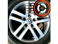 "16"" Genuine VW alloys Caddy Golf excel cond match tyres."