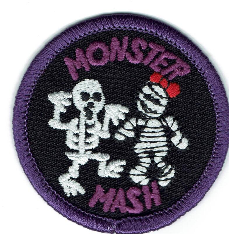 Girl Boy Cub MONSTER MASH Halloween Dance Party Fun Patches Crest SCOUT GUIDE