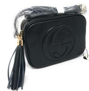 Gucci Soho Disco Black Real Leather ( More Colors Styles Brands Available)