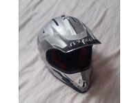MX Helmet VIPER RS-X120 (small) silver motorbike