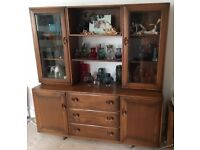 Ercol Windsor Retro Elm Sideboard Dresser Display Cabinet Lovely Condition