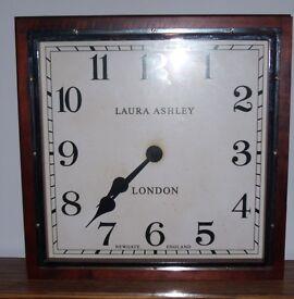 Vintage Laura Ashley Square Station Clock