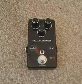 Hell screamer overdrive guitar pedal new