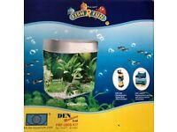 Brand New - Fish R Fun Premium desktop Aquarium Grey